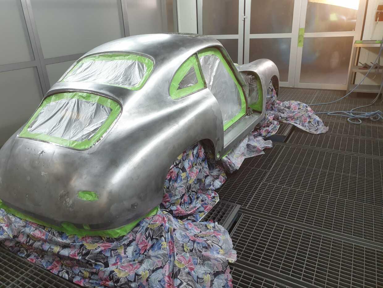 Oldtimer Porsche rot